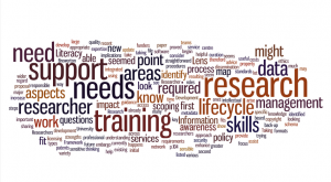 wordle of training needs